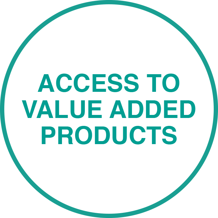 Access to value added products