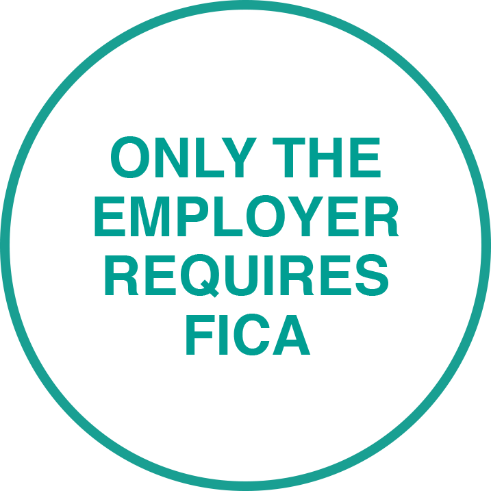 Only the employer requires FICA