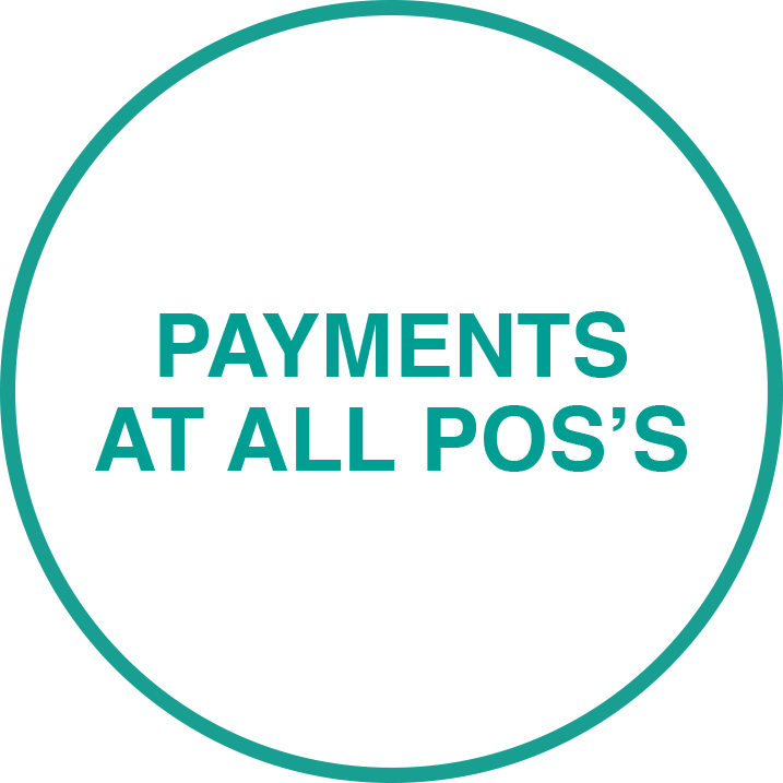 Payments at all POS's