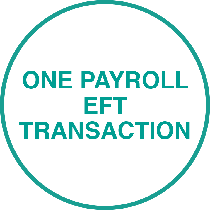 One payroll EFT transaction